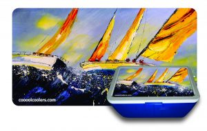 Sailboat Oil Paint 1 - Cooool Coolers