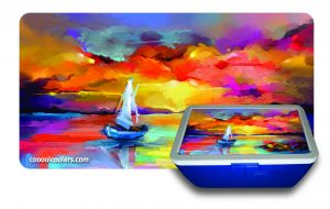 Sailboat Oil Paint 2 - Cooool Coolers