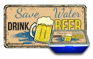 Save Water Drink Beer - Cooool Coolers